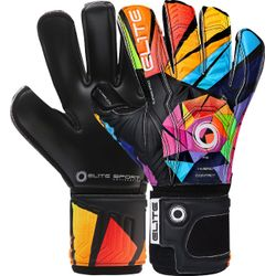Elite Sport Camaleon Keepershandschoenen - Zwart / Multicolor