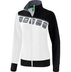 Voorvertoning: Erima 5-C Trainingsvest Dames - Wit / Zwart / Donkergrijs