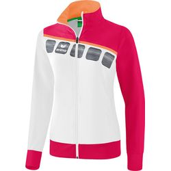 Voorvertoning: Erima 5-C Trainingsvest Dames - Wit / Love Rose / Peach