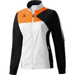 Erima Premium One Presentatiejack Dames - Wit / Zwart / Neon Oranje
