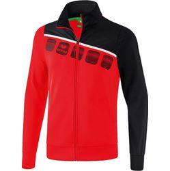 Erima 5-C Polyesterjack Kinderen - Rood / Zwart / Wit
