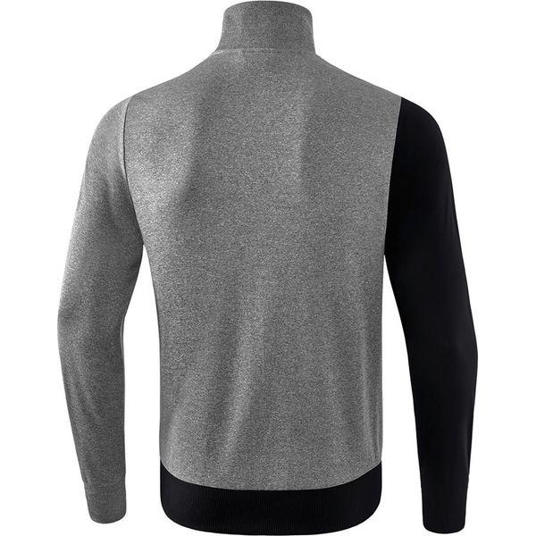 Erima 5-C Polyesterjack Kinderen - Zwart / Grey Melange / Wit