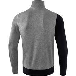 Voorvertoning: Erima 5-C Polyesterjack Kinderen - Zwart / Grey Melange / Wit
