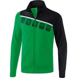 Erima 5-C Polyesterjack Heren - Smaragd / Zwart / Wit