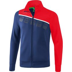 Erima 5-C Polyesterjack Heren - New Navy / Rood / Wit