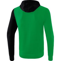Voorvertoning: Erima 5-C Trainingsjack Met Capuchon - Smaragd / Zwart / Wit