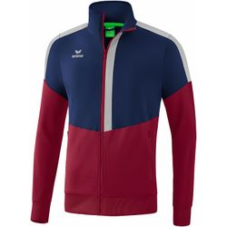 Erima Squad Veste Worker Hommes - New Navy / Bordeaux / Silver Grey