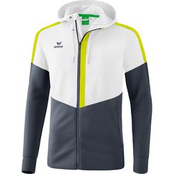 Erima Squad Trainingsjack Met Capuchon Kinderen - Wit / Silver Grey / Lime