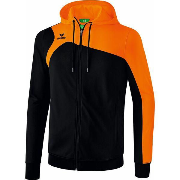 Erima Club 1900 2.0 Trainingsjack Met Capuchon Kinderen - Zwart / Oranje