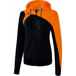 Erima Club 1900 2.0 Veste D'entraînement À Capuche Femmes - Noir / Orange