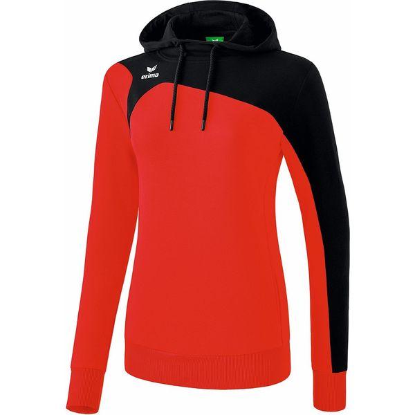 Erima Club 1900 2.0 Sweatshirt Met Capuchon Dames - Rood / Zwart