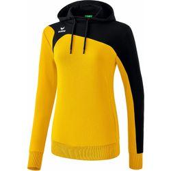 Erima Club 1900 2.0 Sweatshirt Met Capuchon Dames - Geel / Zwart