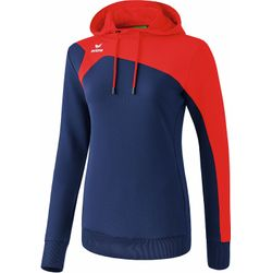 Erima Club 1900 2.0 Sweatshirt Met Capuchon Dames - New Navy / Rood