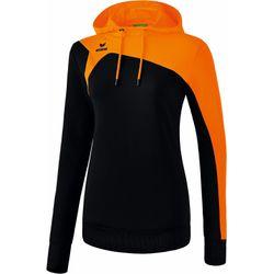 Erima Club 1900 2.0 Sweatshirt Met Capuchon Dames - Zwart / Oranje