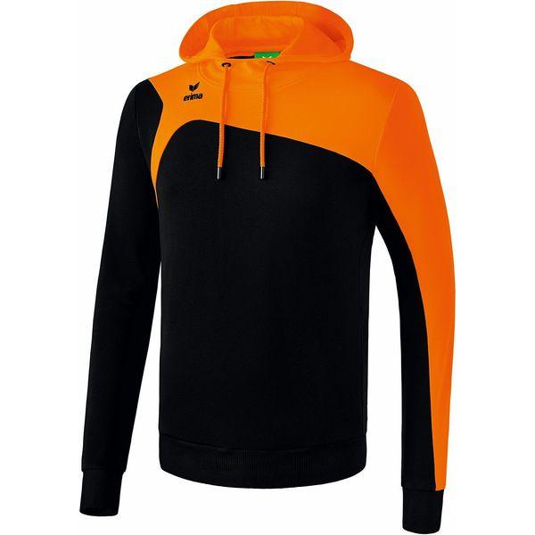 Erima Club 1900 2.0 Sweatshirt Met Capuchon Heren - Zwart / Oranje