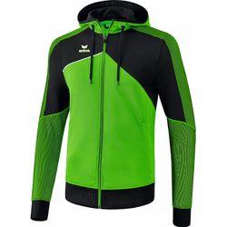 Erima Premium One 2.0 Trainingsjack Met Capuchon Heren - Green / Zwart / Wit