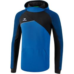 Erima Premium One 2.0 Sweatshirt Met Capuchon - New Royal / Zwart / Wit
