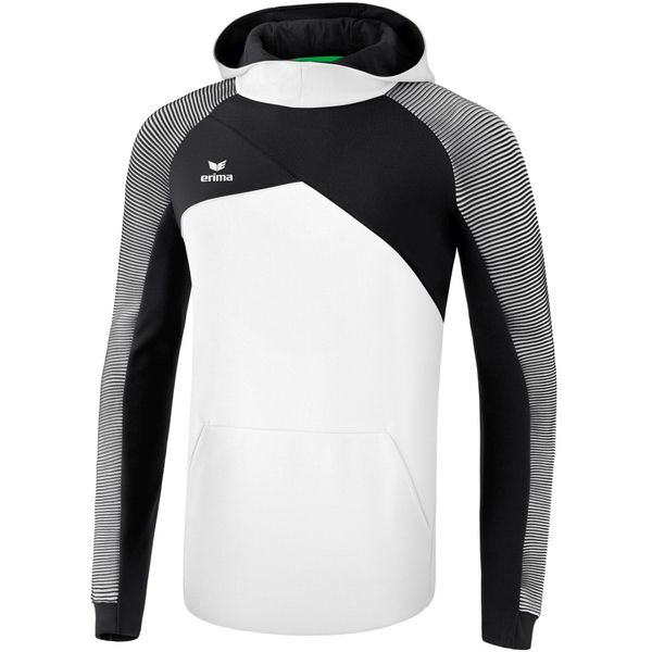 Erima Premium One 2.0 Sweatshirt Met Capuchon Kinderen - Wit / Zwart
