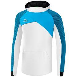 Erima Premium One 2.0 Sweatshirt Met Capuchon Kinderen - Wit / Curacao / Zwart