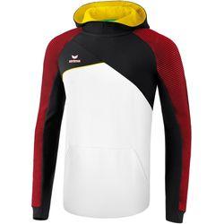 Erima Premium One 2.0 Sweatshirt Met Capuchon Heren - Wit / Zwart / Rood / Geel