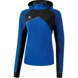 Erima Premium One 2.0 Sweatshirt Met Capuchon Dames - New Royal / Zwart / Wit