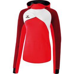 Erima Premium One 2.0 Sweatshirt Met Capuchon Dames - Rood / Wit / Zwart