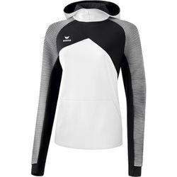 Erima Premium One 2.0 Sweatshirt Met Capuchon Dames - Wit / Zwart