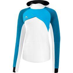 Erima Premium One 2.0 Sweatshirt Met Capuchon Dames - Wit / Curaçao / Zwart