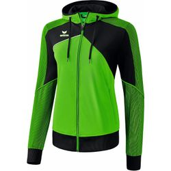 Erima Premium One 2.0 Trainingsjack Met Capuchon Dames - Green / Zwart / Wit