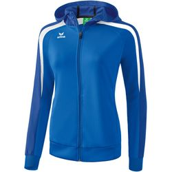 Erima Liga 2.0 Trainingsjack Met Capuchon Dames - New Royal / True Blue / Wit