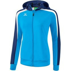 Erima Liga 2.0 Trainingsjack Met Capuchon Dames - Curacao / New Navy / Wit