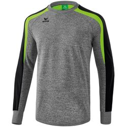 Erima Liga 2.0 Sweatshirt Kinderen - Grey Melange / Zwart / Green Gecko