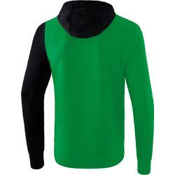 Voorvertoning: Erima 5-C Sweatshirt Met Capuchon Kinderen - Smaragd / Zwart / Wit