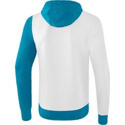 Voorvertoning: Erima 5-C Sweatshirt Met Capuchon - Wit / Oriental Blue / Colonial Blue