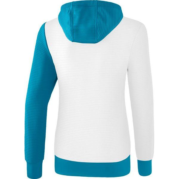 Erima 5-C Sweatshirt Met Capuchon Dames - Wit / Oriental Blue / Colonial Blue