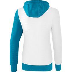 Voorvertoning: Erima 5-C Sweatshirt Met Capuchon Dames - Wit / Oriental Blue / Colonial Blue