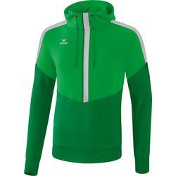 Erima Squad Sweatshirt Met Capuchon Heren - Fern Green / Smaragd / Silver Grey