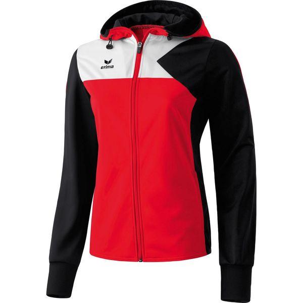 Erima Premium One Veste D'entraînement À Capuche Femmes - Rouge / Noir / Blanc