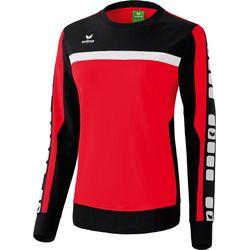 Erima 5-Cubes Sweat-Shirt Femmes - Rouge / Noir / Blanc