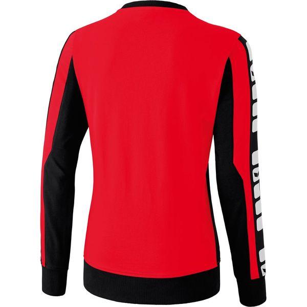 Erima 5-Cubes Sweatshirt Dames - Rood / Zwart / Wit