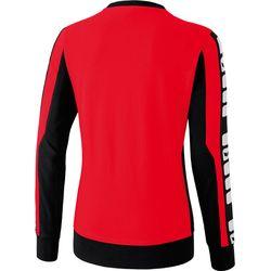 Voorvertoning: Erima 5-Cubes Sweatshirt Dames - Rood / Zwart / Wit