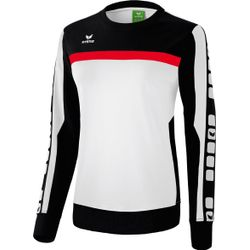Erima 5-Cubes Sweat-Shirt Femmes - Blanc / Noir / Rouge