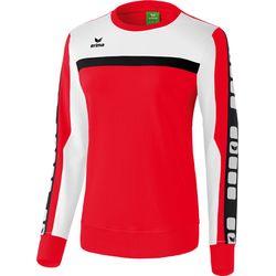 Erima 5-Cubes Sweatshirt Dames - Rood / Wit / Zwart