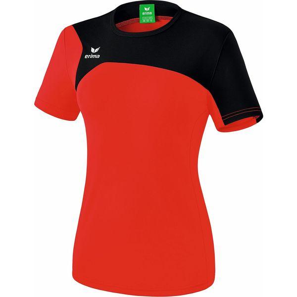 Erima Club 1900 2.0 T-Shirt Dames - Rood / Zwart