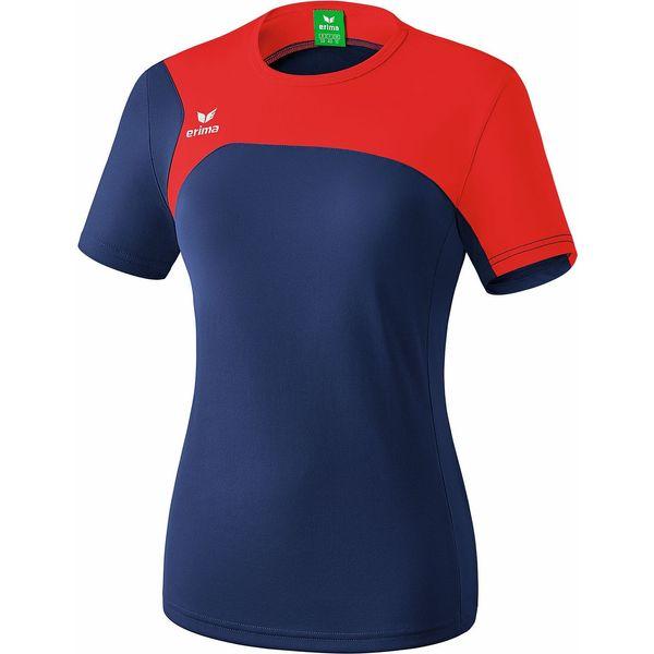 Erima Club 1900 2.0 T-Shirt Dames - New Navy / Rood