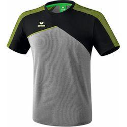 Voorvertoning: Erima Premium One 2.0 T-Shirt Kinderen - Grey Melange / Zwart / Lime Pop