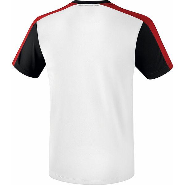 Erima Premium One 2.0 T-Shirt - Wit / Zwart / Rood / Geel