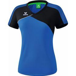 Erima Premium One 2.0 T-Shirt Dames - New Royal / Zwart / Wit