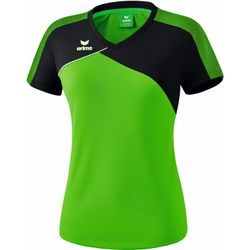 Erima Premium One 2.0 T-Shirt Dames - Green / Zwart / Wit