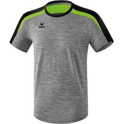 Erima Liga 2.0 T-Shirt Kinderen - Grey Melange / Zwart / Green Gecko